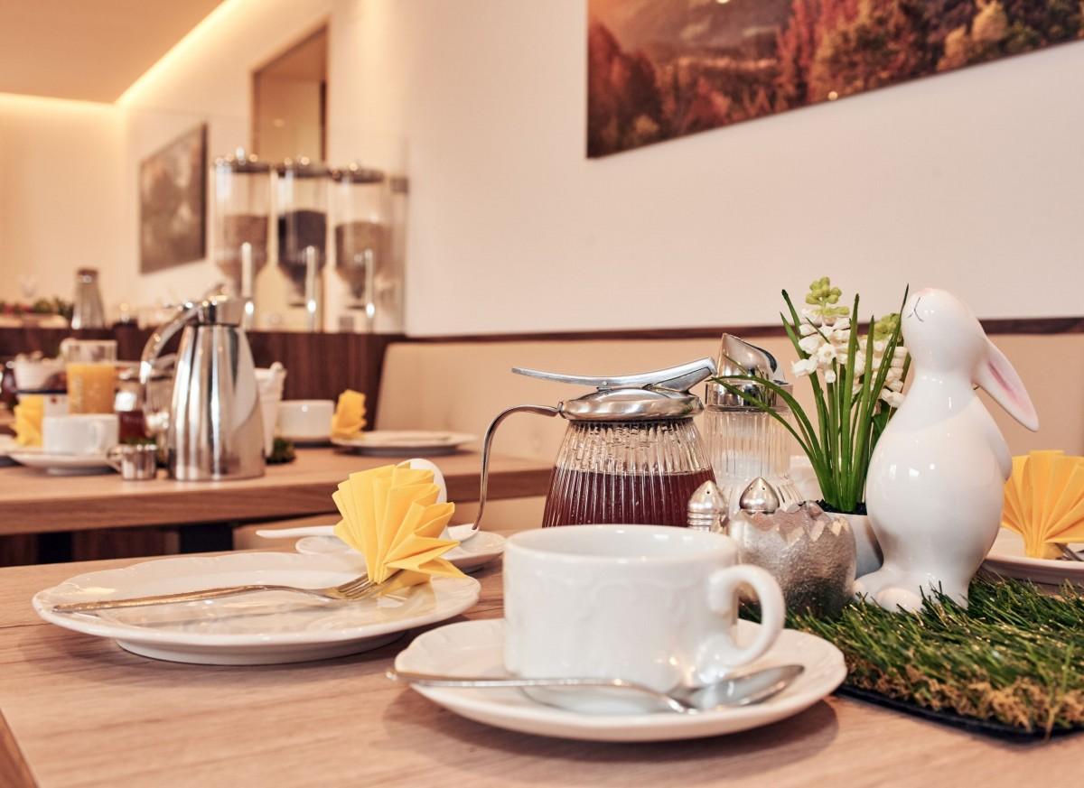 Frühstücksraum Pension Berganemone